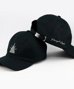 Bone-Pineapple-Dad-Hat-preto